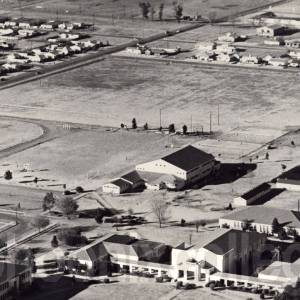 Aerial photograph of Phoenix College, 1950 (among the many photographs in the Arizona Memory Project collection).