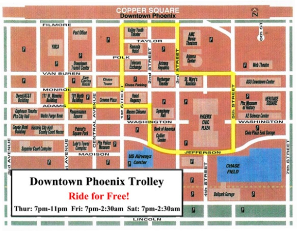 Downtown Phoenix trolley route map | Downtown Voices Coalition on northeast phoenix map, heard museum phoenix map, old town scottsdale hotel map, westgate phoenix map, phoenix convention center map, central phoenix map, flagstaff phoenix map, printable phoenix street map, phoenix metro map, phoenix freeway map, biltmore phoenix map, scottsdale city street map, uptown phoenix map, phoenix area street map, glendale map, phoenix city map, phoenix airport map, phoenix municipal stadium map, phoenix az map, sierra vista az area map,