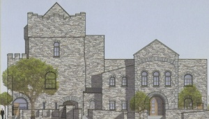 Irish Cultural Center library rendering