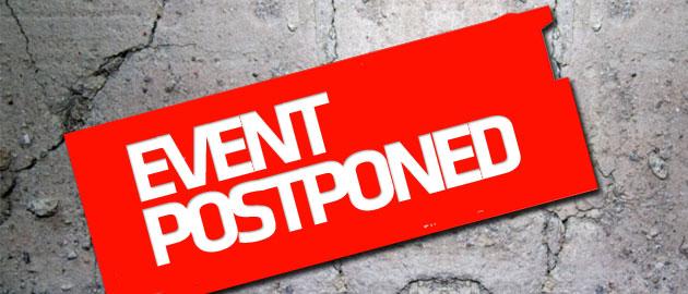 event postponed DVC